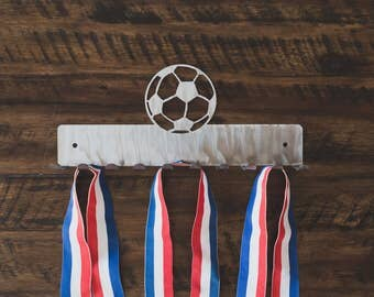 Soccer Football Sports Medal Holder Hanger Display