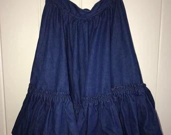80s Ruffled Skirt