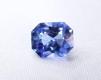 Ceylon Natural Blue Sapphire Emerald Cut 6.8mm - Loose Sapphire Gemstone