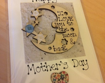 I Love You to the Moon and Back Mother's Day / Father's Day / Valentine's Day / Birthday / Anniversary card