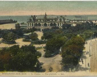 Le Casino Boulogne-Sur-Mer FRANCE Vintage Postcard Carte Postale