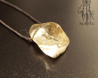 Citrine Necklace/Raw Gemstone Pendant/November Birthstone/Boho/Bohemian/Hippie/Crystal Healing/Abundance/Handmade Jewellery/Gift for her
