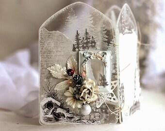 Magical Winter Clear Tri Fold Frame, Home Decor for Christmas