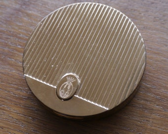 Coty compact gold metal