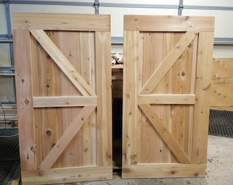 Rustic Reclaimed/Pallet Wood Saloon Doors from ...