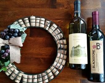 Cork and grape wreath