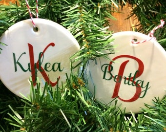 Personalized Christmas Ornaments, Handmade
