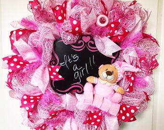 Its a Girl Wreath