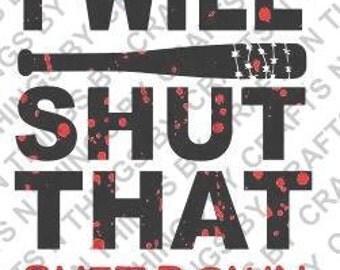 I will shut that s*** down SVG