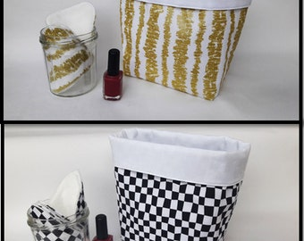 Trash in fabric for the bathroom