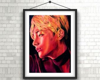 BTS Kpop V TaeHyung Art Print