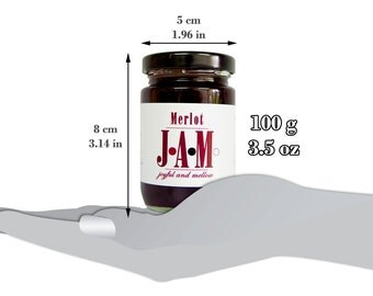 Merlot JAM Spread 100g. Homemade jam. Valentine's Day Gift. Unique Birthday Gift. Unique gift. Gift for friend. Merlot Lover Gift.
