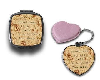 Shawn Mendes Lyrics Sometimes Quote Compact Makeup Handbag Mirror CM110
