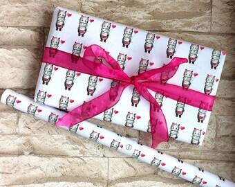 5 he set hippopotamus gift paper 42 x 59 cm