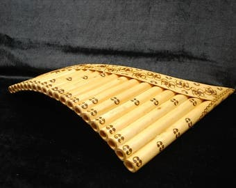 Professional Pan Flute 21 Pipes  , Hand Made .