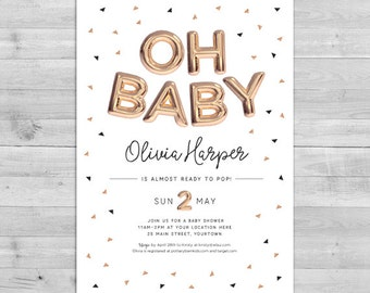 ready to pop invite | etsy, Einladung