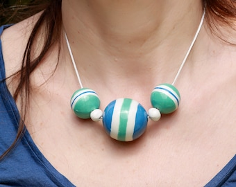 Ceramic necklase  - ceramic jewelry - gift idea