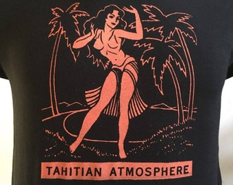 EXOTICA THAITI tiki aloha surf  t shirt