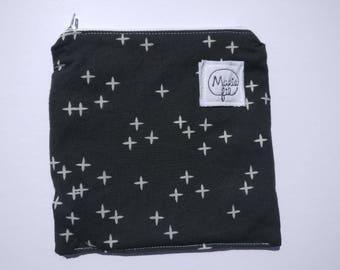 Sandwich bag washable - fabric ziploc bag - bag to washable snack machine - bag lunch - zero waste - zero waste product