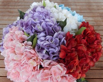 HYDRANGEA FLOWER choice of 5 colors-high quality artificial flower bouquets-Flower hydrangea choice of 5 colors