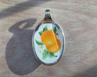 Oranges and Blossoms Spoon Pendant