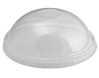 12 oz Ice Cream Cup Dome Lids, Clear Plastic Dome Lids Fit Our 12 oz Cups Perfectly, Cups Sold Separately, Fast Shipping