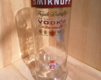 Recycled Smirnoff Vodka Bottle Glass