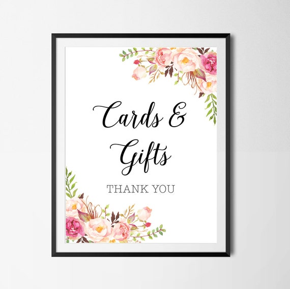 Remarkable image within cards and gifts sign printable