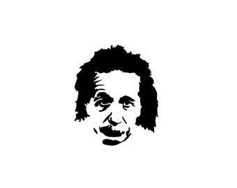 Einstein Decal - Albert Einstein, Einstein Sticker, Vinyl Decal, Vinyl Sticker, Laptop Sticker