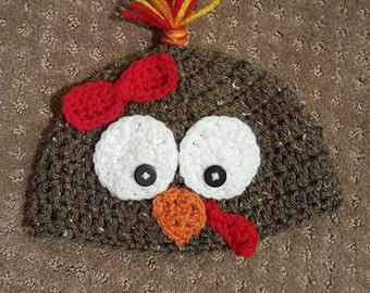 Crocheted Miss Turkey Hat