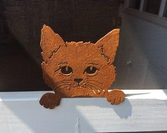 RUSTY the Cat - Metal Cutout