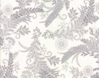 Bee Inspired Laurel White Fern 19794 18 Moda Fabrics By Deb Strain 100% Cotton Quilting Fabric