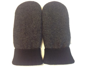 Sweater Mitten - Black and Grey - Medium/ Large - Free Shipping in U.S.
