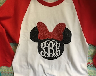 Monogram Minnie Glitter Ragland for infant and youth.