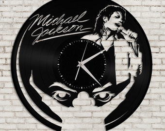 Music Clock - Michael Jackson Art Record Clock, Vinyl Record Clock, Unique Wall Clock, Large Wall Clock, Vinyl Clock, Michael Jackson Gifts,