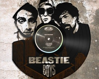 Recycled Repurposed Wall Art, Beastie Boys Hip Hop Vinyl Decor, Wall Sign, Gift for Him, for Her, For Mom, For Dad, For Music Lovers