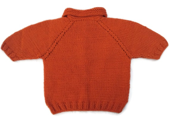 Knit baby sweater baby wool sweater toddler girl sweater