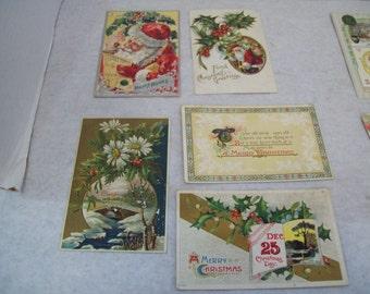 Set of Five 1910 Christmas Postcards, P8