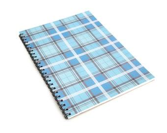 Blue Pastel Tartan A5 Notebook