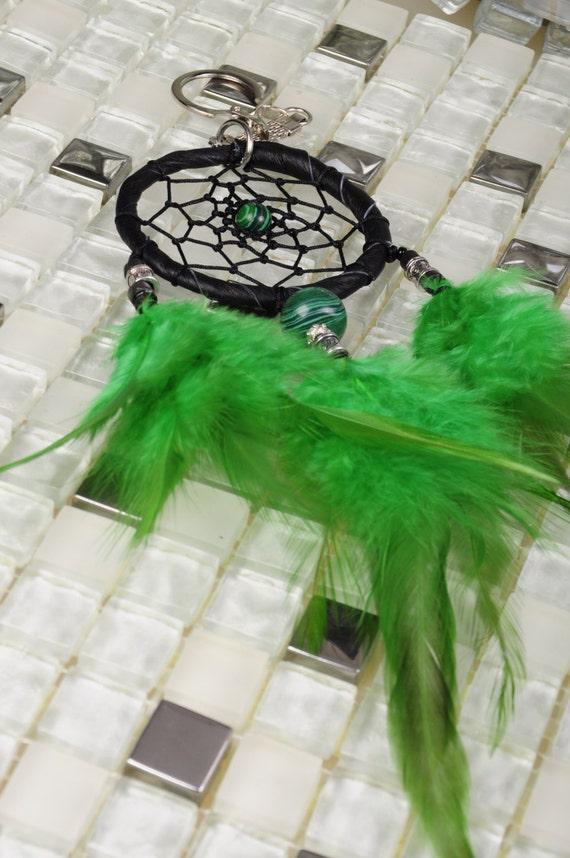 Keychain Dreamcatcher malachite handmade Dreamcatcher green Dreamcatchers Christmas present Keychain malachite green Keychain Dreamcatcher