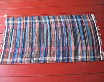 Handwoven wool blend rug