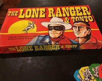 Lone Ranger and Tonto vintage board game complete