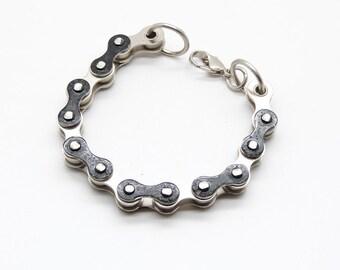 Everyday bracelet, black bracelet, bike chain jewelery, recycled jewelery, upcycled gift, handmade jewelery, unique gift for her, chain