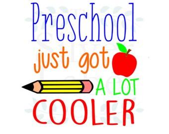 Preschool just got a lot cooler SVG