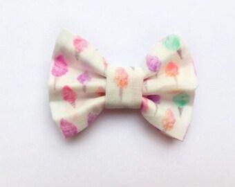 MINI Cotton Candy Bow, baby bow, baby headband, baby hair clip, baby girl, girl toddler, baby gift, headband