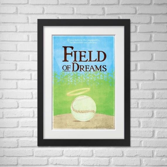 Field Of Dreams Movie Poster - Illustration / Field Of Dreams Movie Poster / Field Of Dreams
