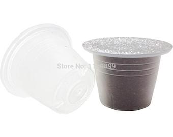 1000pcs + 1000 foils ** Empty Cup Capsule Compatible Nespresso(Fillable Tea or Coffee) **