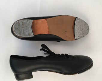 Size 9 1/2 black lace uo tap shoes with slight heel