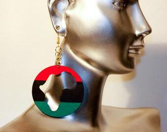 Africa Earrings,Afrocentric Earrings,Afro-Earrings,Custom Gift for her,Earrings,Afrocentric Jewelry,Handmade Dangle Earrings,Wooden Earrings
