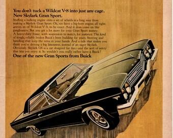 1965 Buick Wildcat V8 vintage magazine ad print ad wall art